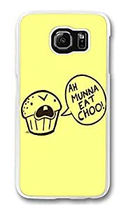 S6 Case, Galaxy S6 Case, Scratch Resistant Hard Bumper Case for Samsung Galaxy S6 Cannibal Cupcake white Hard Case for Samsung Galaxy S6