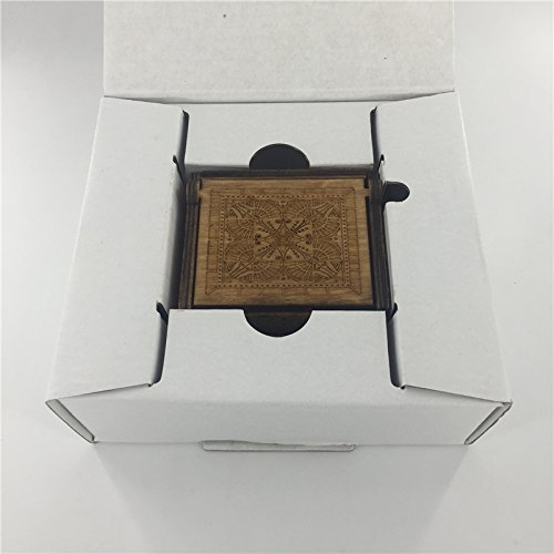 Antique Carved Wooden Music box Hand cranked Music: Game of Thrones, Harry Potter, Merry Christmas, Beauty and the Beast, and Zelda Theme Gift (Zelda; Song of Storms from Ocarina of Time, Wood) by Phoenix Appeal (Image #6)