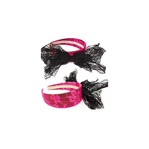 Forum Novelties 80's Neon Lace Headband with Bow, (The 80's Costumes)