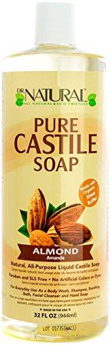 Natural Castile Liquid Soap (Dr. Natural Pure-castile Liquid Soap, Almond, 32 Ounce)