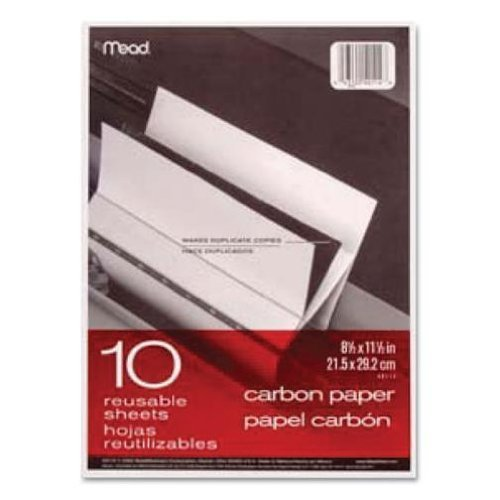 12 Pack Of Black Carbon Mill Finish Paper, 8-1/2 x 11-1/2, 10 Sheets