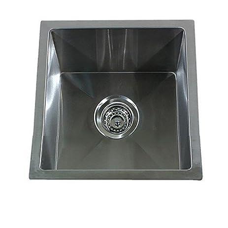 Pro Series 15u0026quot; X 15u0026quot; Square Undermount Small Radius Stainless  Steel Bar Sink