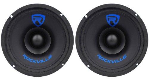(2) Rockville RM68SP 6.5 240W MidRange Car Speakers 8 Ohm CEA Compliant