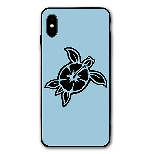 Sea Turtle Hawaiian Clipart Print iPhone X Case,Case for Apple iPhone X 2017 Release 5.8 Inch ()