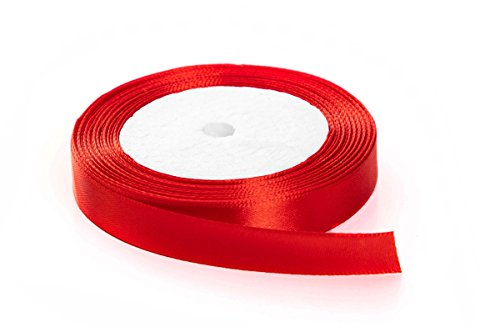 Solid Color Satin Fabric Ribbon (red, 1/2