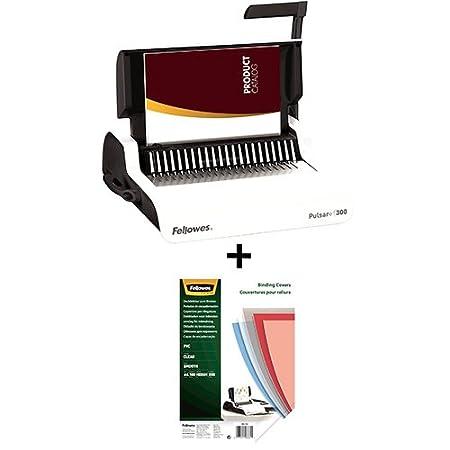Fellowes Pulsar+ 300 Plastikbindegerät mit Dokumentmessfunktion, Bindeleistung 300 Blatt, Stanzleistung 20 Blatt, weiß/grau weiß/grau Fellowes GmbH 5627601