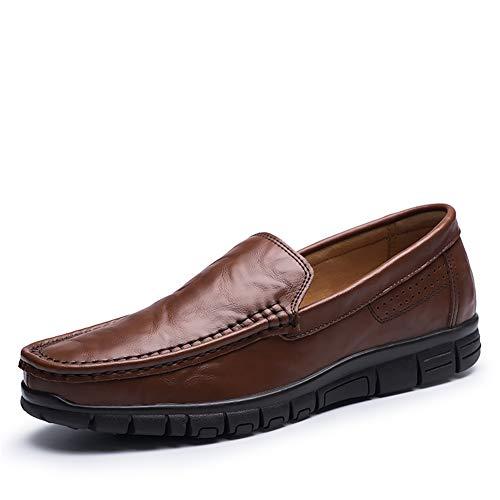 Baja Primavera Zapatos Soles fei Gpf Cuero Mocasines Zapatos brown Top Trekking ons Camping Y 40 Mens Personalidad Casual Slip Nueva Marea Flujo Luz AYndIdq