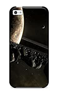 Iphone 5c Case Cover - Slim Fit Tpu Protector Shock Absorbent Case ( Space)