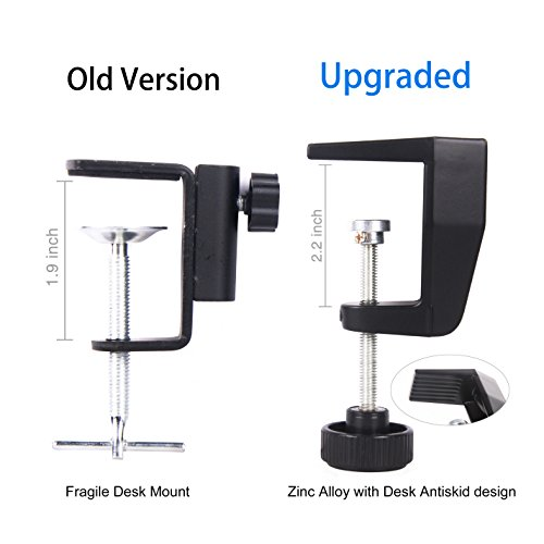 iksee Studio Arm Microphone Stand, Microphone Boom Arm Desk Stand with Foam Mic Cover and Threaded Screw for Blue Yeti Snowball and More Microphones - Image 3