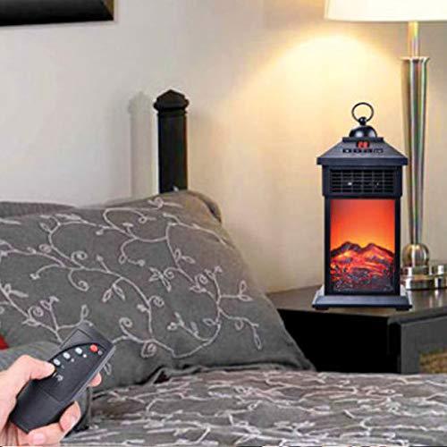 Port/átil Calefactor con efecto de llama LED Bajo consumo 400 W Mando a distancia
