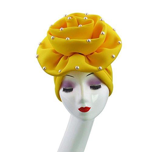 Nigerian gele hats with Pearl handmade african hele turban cap