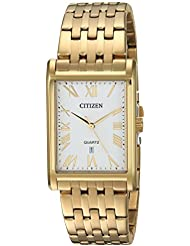 Citizen Mens Quartz Stainless Steel Casual Watch, Color:Gold-Toned (Model: BH3002-54A)