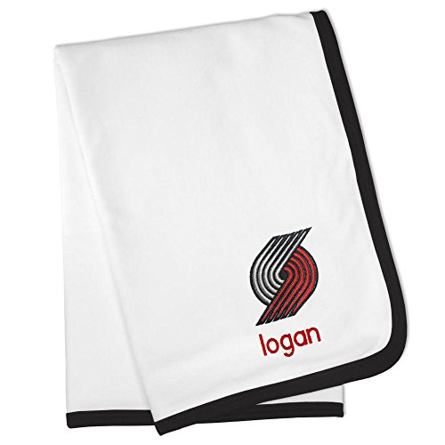 Personalized Portland Trail Blazers Baby Blanket (Officially Licensed) Ultra Soft, Warm Comfort | Receiving Swaddle for Newborn Boy or Girl | Portable, Stroller Friendly