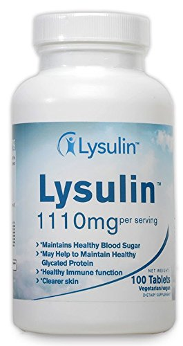 Lysulin 100 Tablets -Nutritional Support for People with Diabetes and Pre-Diabetes. Supports Healthy A1c Levels with a Specially formulated Blend of L-Lysine, Zinc and Vitamin C