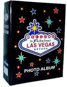 Las Vegas Photo Album - Welcome, Las Vegas Photo Albums, Las Vegas Souvenirs. Holds 100 4X6 Photos