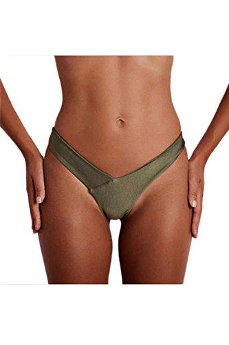 Las Mujeres Verano Sweet Bottom Bikini Bathing Beachwear Green