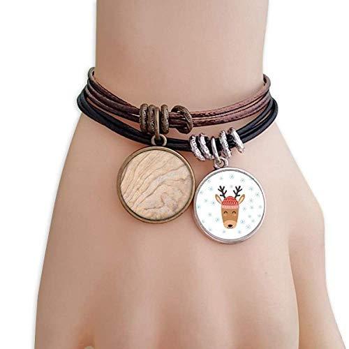 DIYthinker Mosaic Stone Texture Elegant Wavy Pattern Elk Rope Bracelet Chain Couple Set