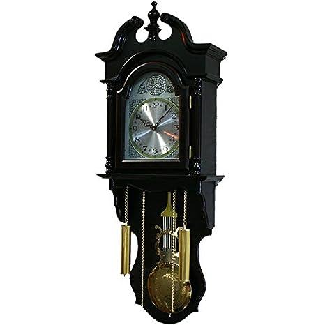 BVC Reloj de Pared con sonería y péndulo. Reloj de Madera 92 x 30 x 11,5 cm - Movimiento de Cuarzo. Mod.806: Amazon.es: Hogar