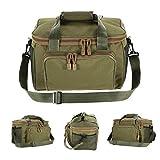 Fishing Bag Canvas Fishing Lure Reel Shoulder Waist Backpack Bag Black