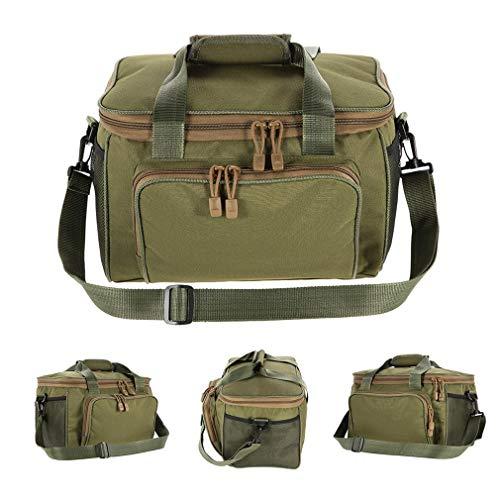 Fishing Bag Canvas Fishing Lure Reel Shoulder Waist Backpack Bag Black by Purpume