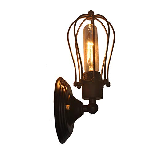 - IslandseWall Sconce Lighting Metal Industrial Wall Light Shade Vintage Style US Stock Black