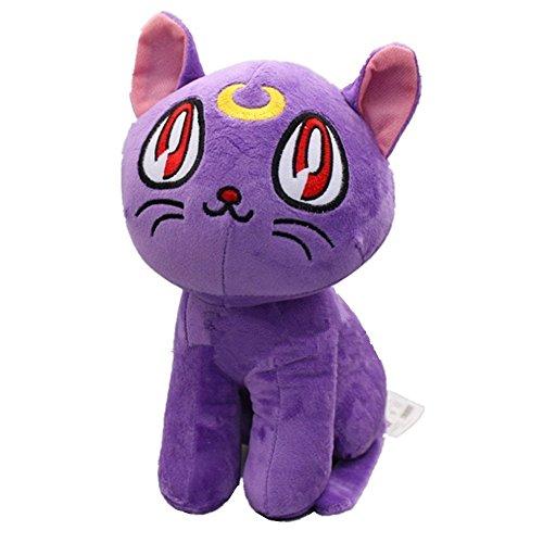 Sailor Moon Purple Cat Luna 26 Cm Anime Animal Stuffed Plush Plushies Doll Toys