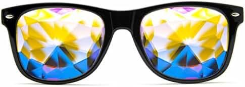 GloFX Ultimate Kaleidoscope Glasses - Rainbow EDM Rave Light Diffraction Eyewear Edge Cut Bug Eye