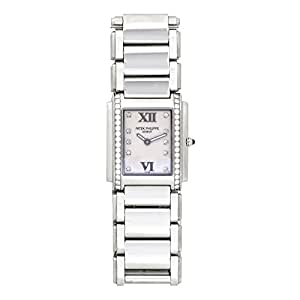 Patek Philippe Twenty 4 quartz womens Watch 4910-10A-011 (Certified Pre-owned)