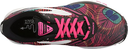 Brooks Womens Launch 4 Pfau / Pink Glo / Schwarz
