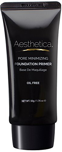 (Aesthetica Pore Minimizing Foundation Primer - Oil Free, Lightweight Moisturizing Face Makeup Primer - 1.76 fl oz)