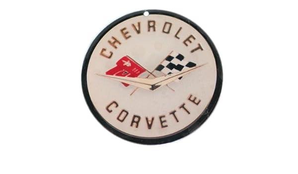 """1958-1962 Corvette Emblem Metal Sign 19/"""" x 19/"""""""