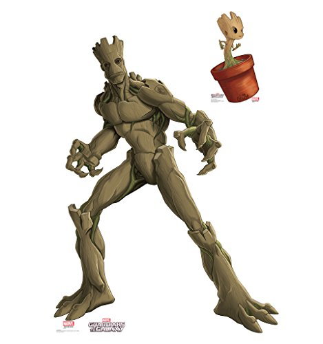 Groot & Little Groot - Guardians of the Galaxy (TV Series) - Advanced Graphics Life Size Cardboard Standup
