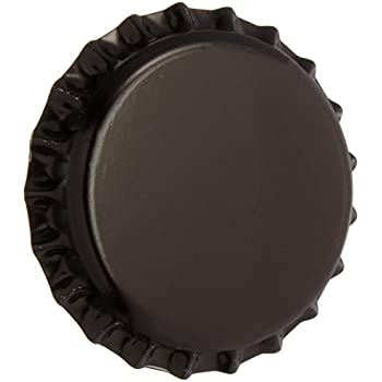Beer Bottle Crown Caps-Oxygen Absorbing for Homebrew-144 Count(Black)