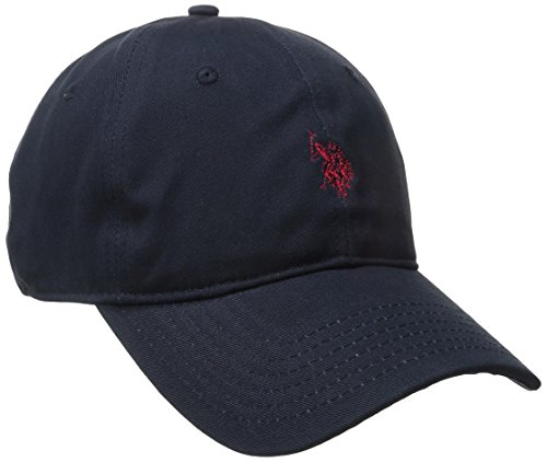 U.S. Polo Assn. Men's Small Solid Horse Adjustable Cap, Navy, One Size