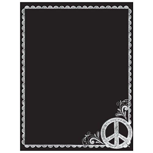 Wallies Peel and Stick paz cartel pizarrón calcomanía decorativo para pared, 48.3cm X 63.5cm