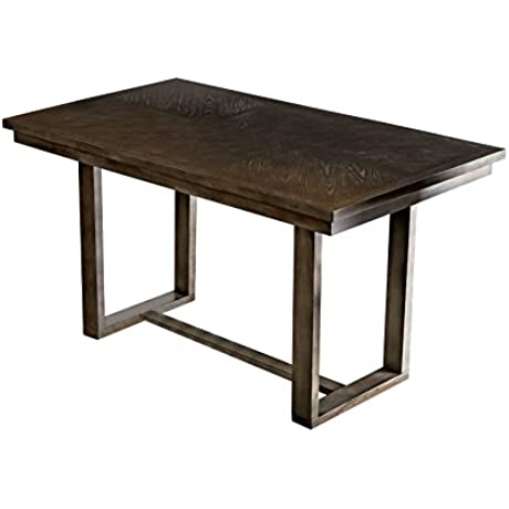 HOMES Inside Out IDF 3986PT Dane Counter Height Table Gray Mid Century Modern