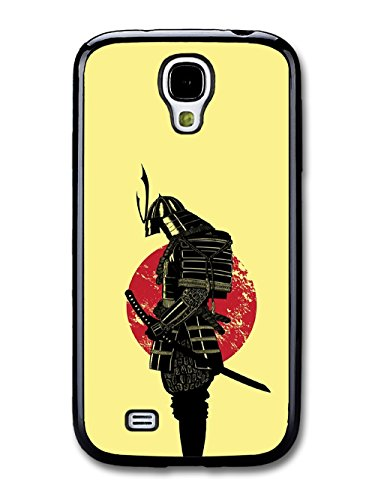 Samurai Martial Arts Fighter In Black Sabre With Japan Flag Cool Style Illustration coque pour Samsung Galaxy S4