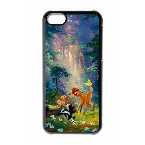 Bambi UV05MJ7 coque iPhone Téléphone cellulaire 5c cas coque J4RN5F4CH