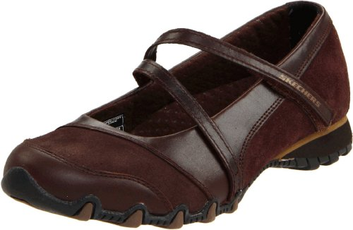 Skechers Bikers-step-up Mary Jane Sneaker Marrón - Toffee