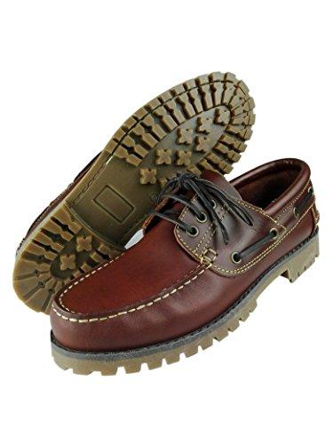 ... Zerimar Leder Bootsschuhe für Herren Segelschuhe Herren Leder schuhe  sportliche und elegante leder schuhe Farbe tan ... 27a0fd120c