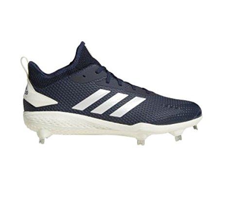 adidas Men's Adizero Afterburner V Baseball Shoe, Collegiate Navy/Cloud White/Black, 10 M US