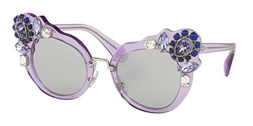 - MIU MIU Sunglasses MU04SS U695J0 Transparent Lilac