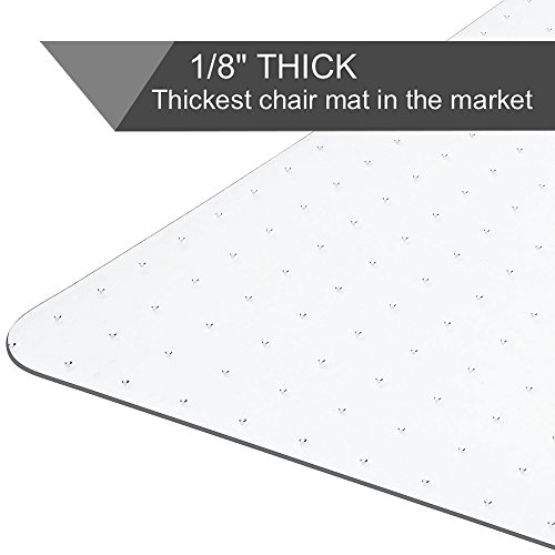 Heavy Duty Carpet Chair Mat Non Breakable Polycarbonate Thick And Sturdy Highly Transparent Premium Quality For Low And Medium Pile Carpets 36