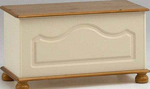 Steens Richmond Cream & Pine Ottoman Blanket Box Toy Chest by (Pine Blanket Chest)