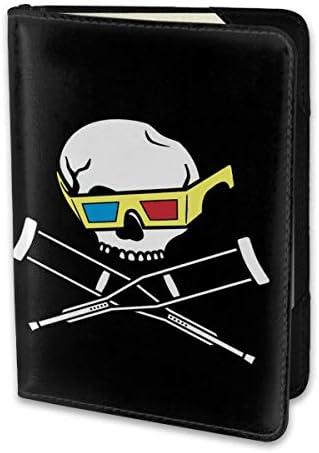 JackassジャッカスSkull-3 パスポートケース パスポートカバー メンズ レディース パスポートバッグ ポーチ 携帯便利 シンプル 収納カバー PUレザー収納抜群 携帯便利 海外旅行 出張 小型 軽便