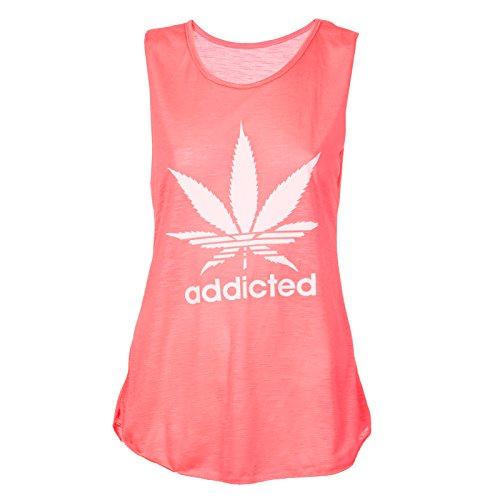 Loomiloo - Camiseta sin mangas - para mujer Rosa