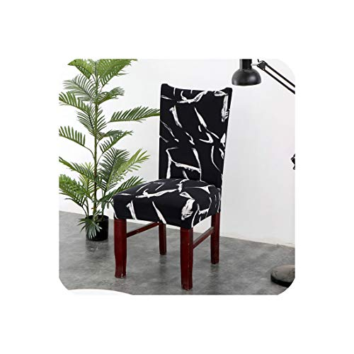 1/2/4/6PCS Kitchen Chair Covers Stretch Seat Covers for Chairs Slipcover Chair House de Chaise Furniture Covers Gray Chair Cover,Color 11,2 pcs Chair Covers