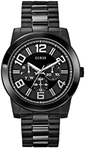 GUESS Men's U0264G3 Analog Display Quartz Black Watch