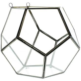 Pierre Dodecahedron Clear Glass Wall Terrarium by HomArt