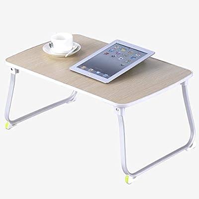DQMSB Mesa Plegable para Cama portátil con luz de Escritorio y ...